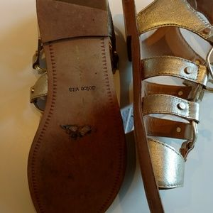 Dolce Vita Shoes - Dolce Vita gold lace-up sandals